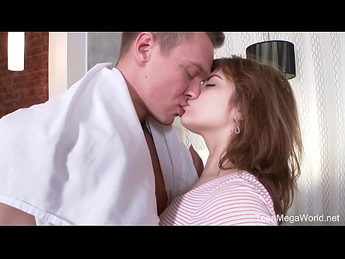 FuckStudies.com - Rebecca Rainbow - Ginger cutie plays with male tool