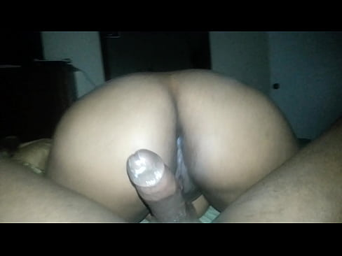 Black with big booty bouncing on dick