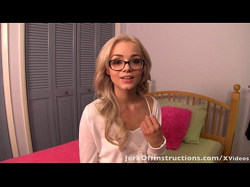 Stroking off for a blonde virgin (with Elsa Jean) 8 min HD