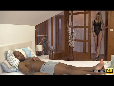 BLACK4K. Karina Grand met black guy in the bar and is ready for sex