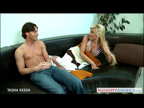 8 min Chesty blonde Tasha Reign gets facialized theporndude