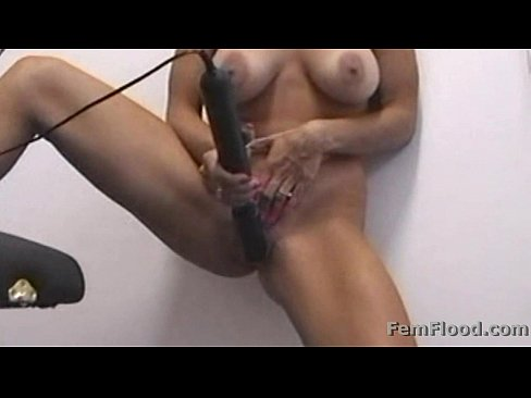 Masturbating to Pulsing Squirting Orgasms Standing Up