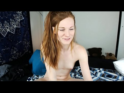 image Redhead trans girl melody lane fingers and fucks herself in knee high socks