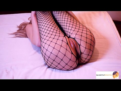 Young girl in Fishnet bodysuit get pounded