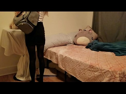 Sleeping little schoolgirl daughter gets awakened by daddy's dick and loves it!