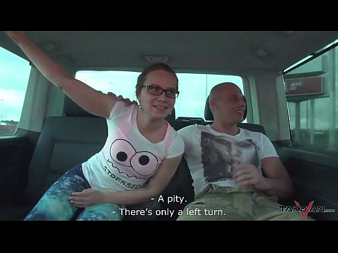 Highway Threesome Mea Melone & Wendy Moon fuck & eat while Driving