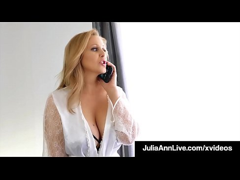 Step-Mom Julia Ann Stuffs Her Muff With Step-Son's Cock!