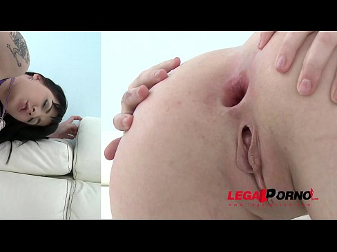 Wild slut Charlotte Sartre cries with pleasure - Triple anal destruction