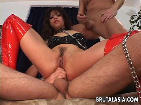 Slutty bitch treated like a whore gets tag teamed