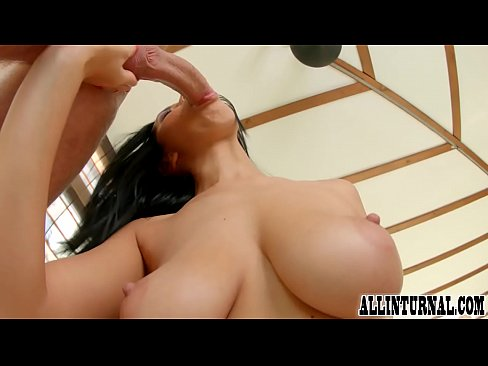 Big boobed babe enjoys her pussy being filled