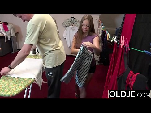 Innocent Young Blonde Gets fucked by Grandpa. Teen Blowjob Young Pussy Sex