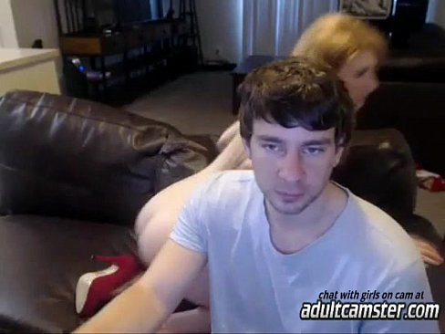 Blonde milf on webcam blows a cock 11 min