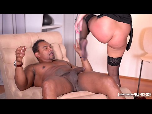 Interracial Banging of Hot and Horny Secretary Amirah with Huge Black Cock