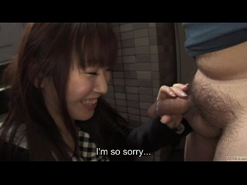 Uncensored Japanese blowjob outside of locked apartment