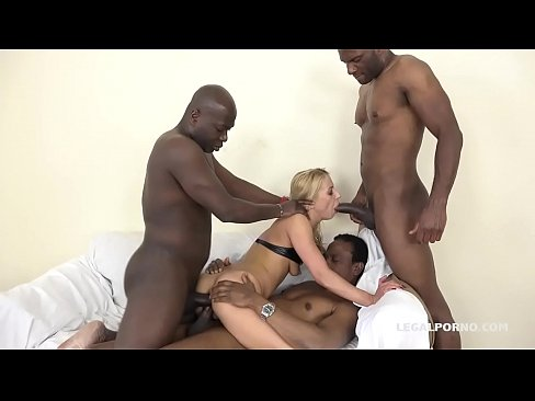 Nikky Thorn fucks 3 black bulls and welcomes two in her Asshole