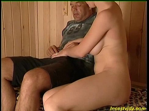 After shower sweet busty daughter went to her father in sauna - XNXX.COM