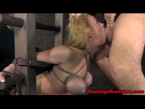 Tied down bdsm sub Darling ass pounded