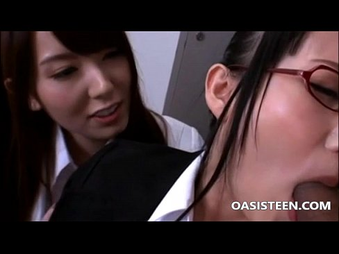 Two asian schoolgirls fucked by teacher