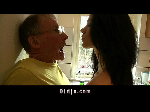 Tall Teeny Fucks Hard An Old Man In The Kitchen
