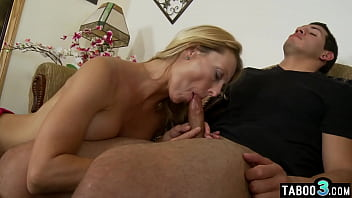 Mature stepmom Brenda James ordering her curious stepson to taboo fuck her