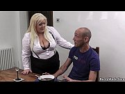 Busty blonde secretary pleases her boss