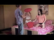 College Teens Pillow Fight Share Grandpa Teacher Cock in 3some Old young