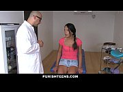 thumb punishteens   skinny brunette gagged and rammed by her doctor