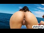 thumb college teen gals group sex on speedboat