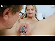 Jenny gyno pussy speculum exam on gynochair by old kinky doctor