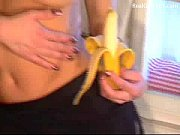 Blonde Babe And Banana