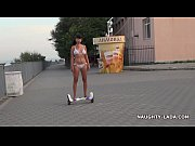 thumb naked ride gyroscooter in public