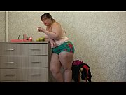 thumb A Fat Girl I n Stockings Trying On Different Panties And Masturbating Her Ass And