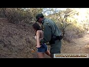 Boarder patrol and hot blonde cop Mexican border patrol agent has his