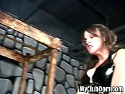 Strapon nailed Strapon nailed submissive guy by two hot mistressesguy