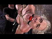 Hogtied gagged blonde made squirting