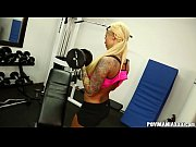 thumb lolly ink gives pov blowjob during her workout