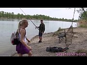 thumb outdoors teen pussylicked by fisherman