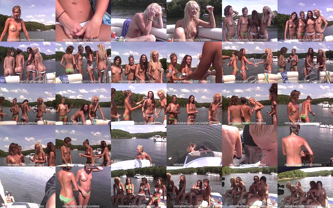Pontoon boat party nude