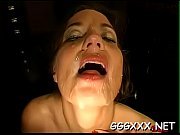 Hot babe takes joy in getting her face filled with spunk
