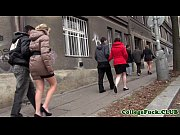 thumb european college girl jizzed at bday party