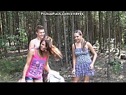 thumb Two Girls Fuck  A Guy In The Woods ods