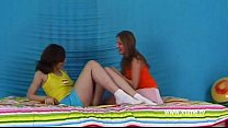 Two young lesbians tasting and licking pussy