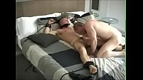 Daddy tied on the bed