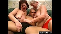 Granny and her friend are fucked by y. boy