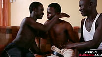 Bareback Loving Nubian Twinks Fucking In Trio