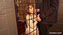 Submissive Sweetheart Caged and Whipped by her Master