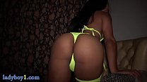 Sexy Asian lady boy with big boobs bareback an obs bareback anal fucked
