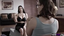 Image: Sexy therapist Angela White cure her patients phobia by starting an intensive 3some double penetration therapy.