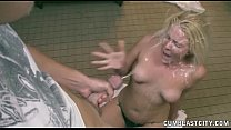 Huge Cumshot For The Horny Blonde thumb