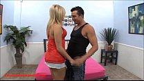 big bubble butt blond does her first porn scene...